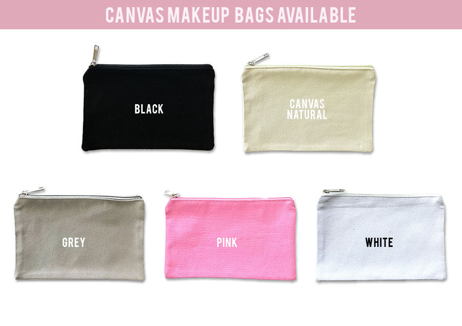 Canvas Makeup Bag - K