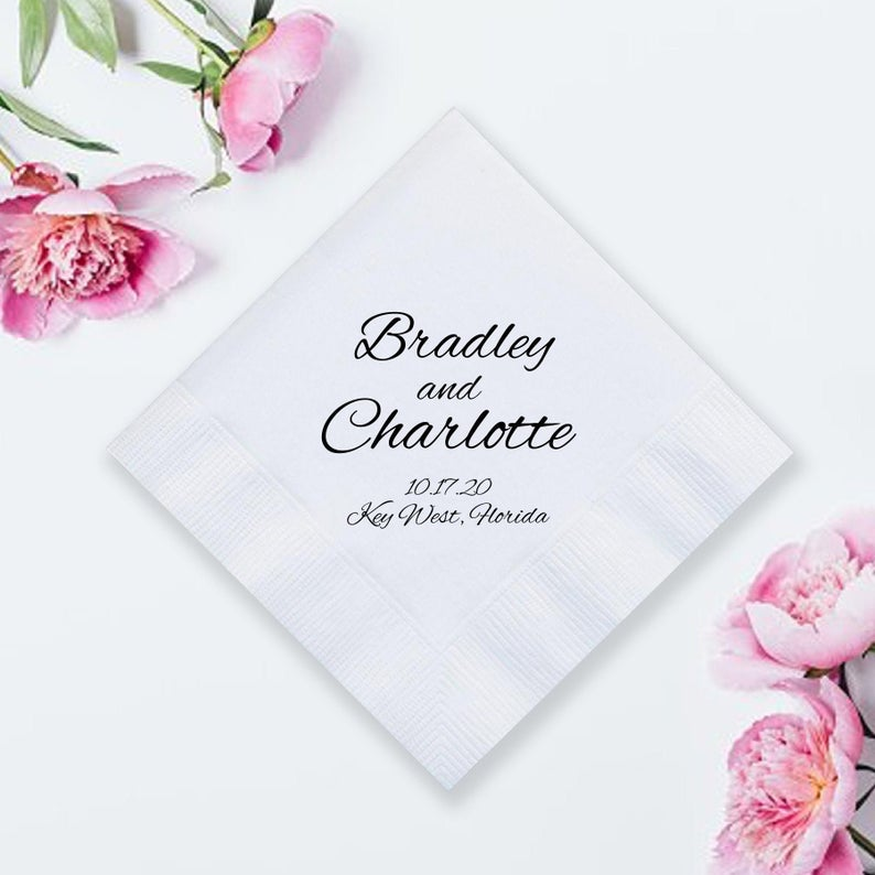 Custom Wedding Napkins (LPN10)