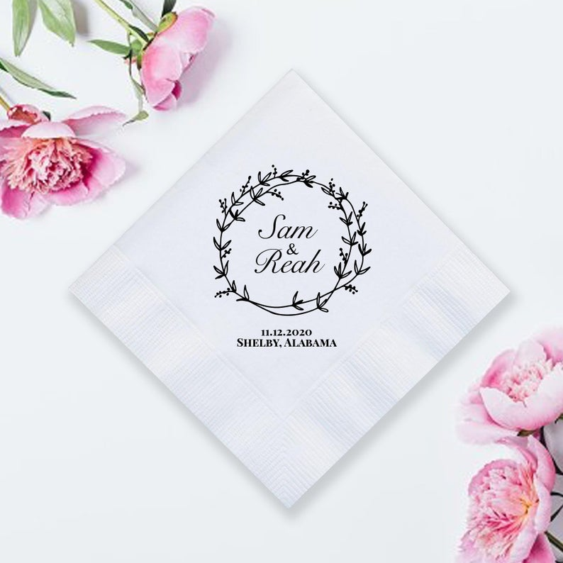 Custom Wedding Napkins (LPN4)