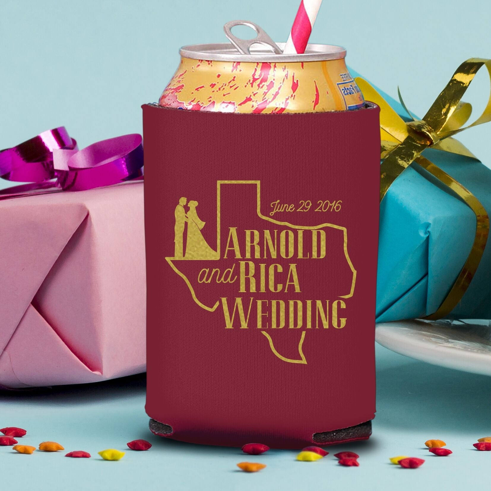Custom Wedding Koozie