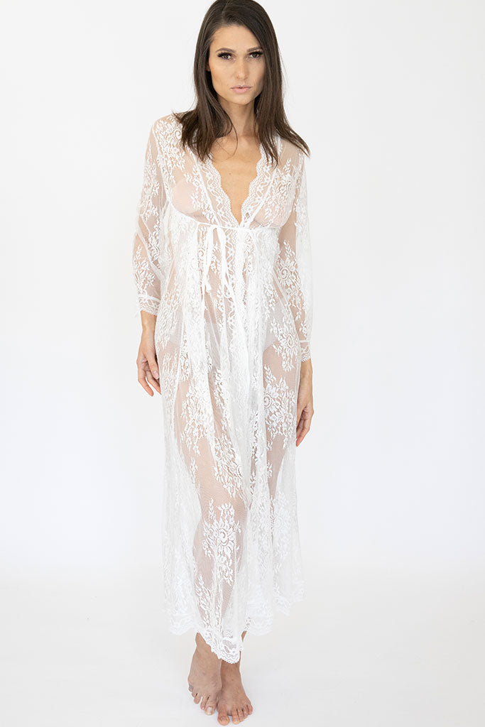 Long Lace Delilah Robe