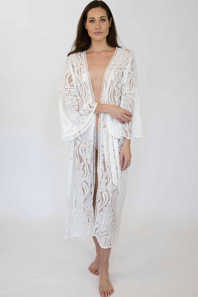 Long Lace Eleanor Robe