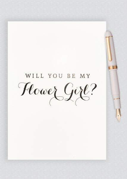 Will You Be My Flower Girl? Proposal Card - B