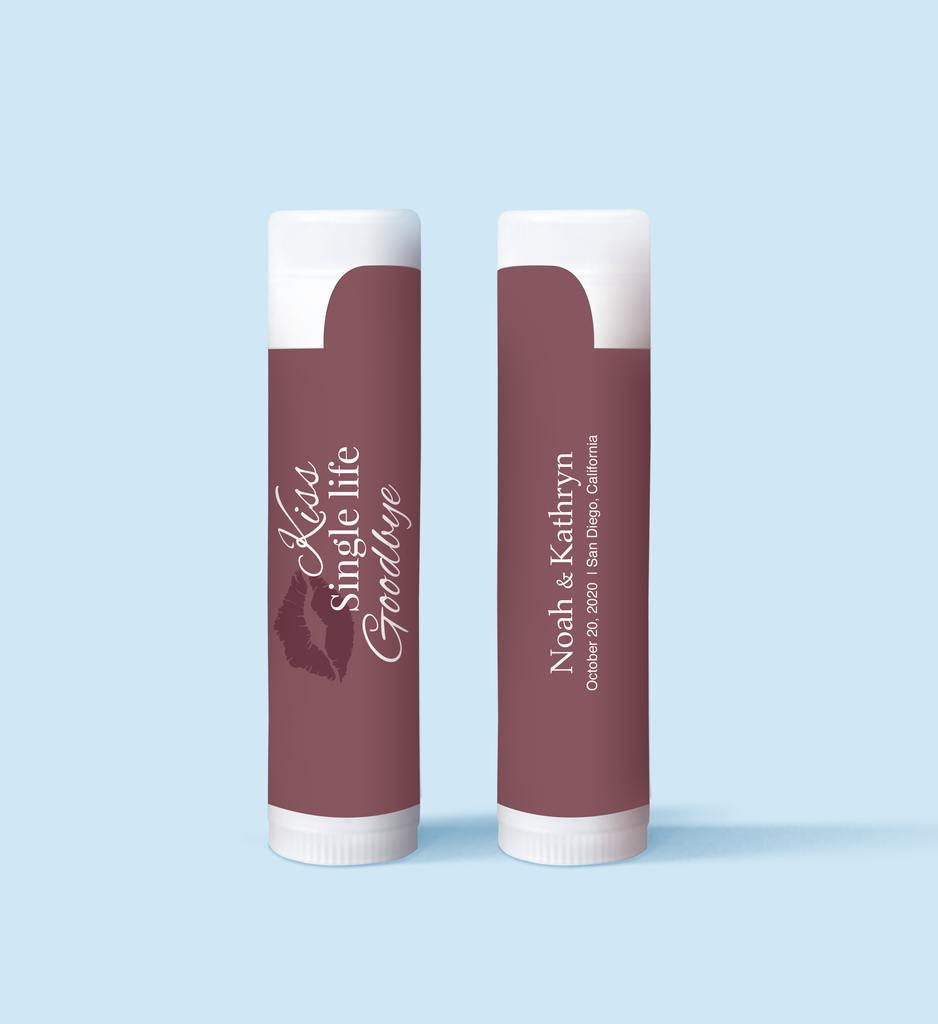 Goodbye Single Life Lip Balm Favors