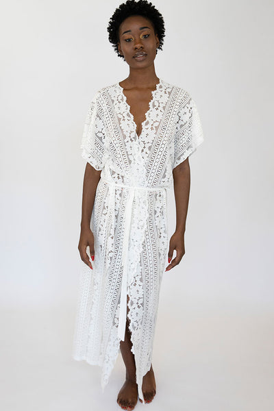 Long Lace Grace Robe