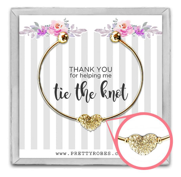 Heart Bracelet - Gold - Design A