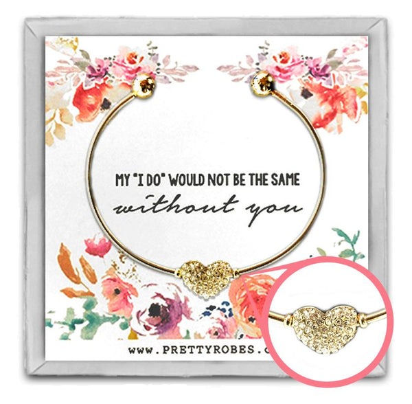 Heart Bracelet - Gold - Design C