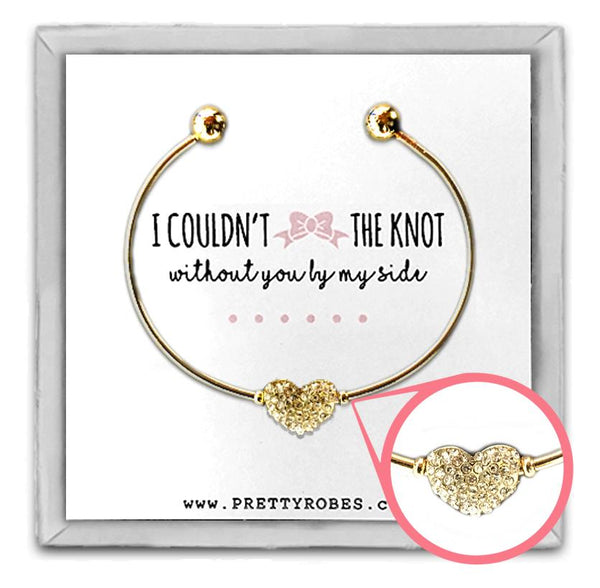 Heart Bracelet - Gold - Design D