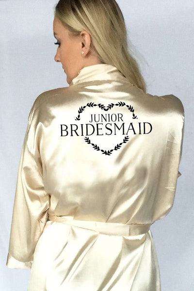 Heart Wreath Style - Junior Bridesmaid Robe
