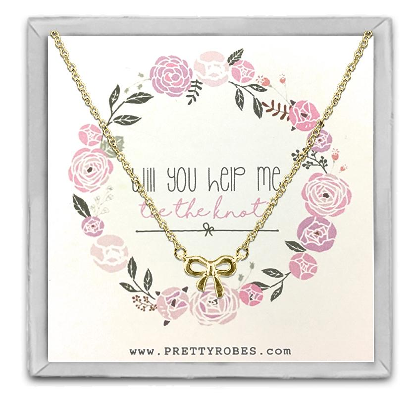 Knot Necklace - Gold - Design B