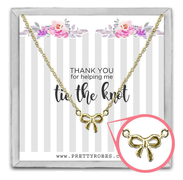 Knot Necklace - Gold - Design A