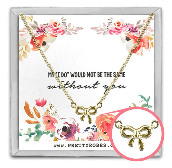 Knot Necklace - Gold - Design C