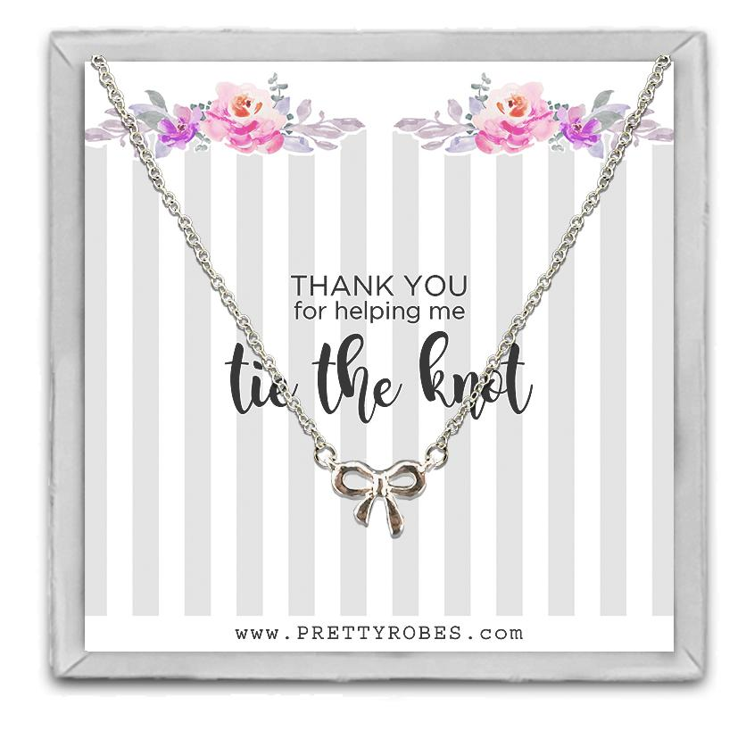 Knot Necklace - Silver - Design A