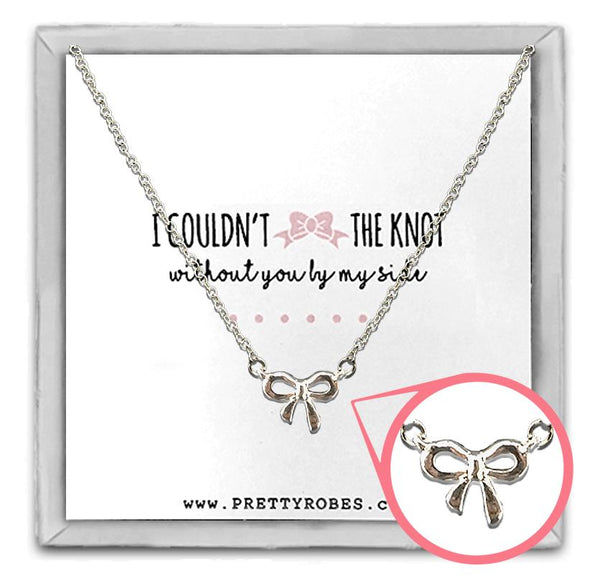 Knot Necklace - Silver - Design D