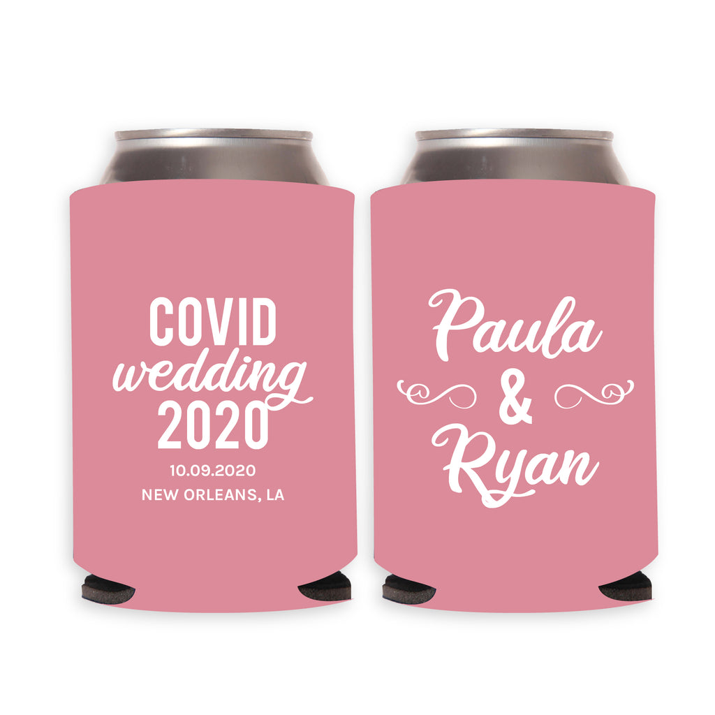 COVID Wedding Can Coolers
