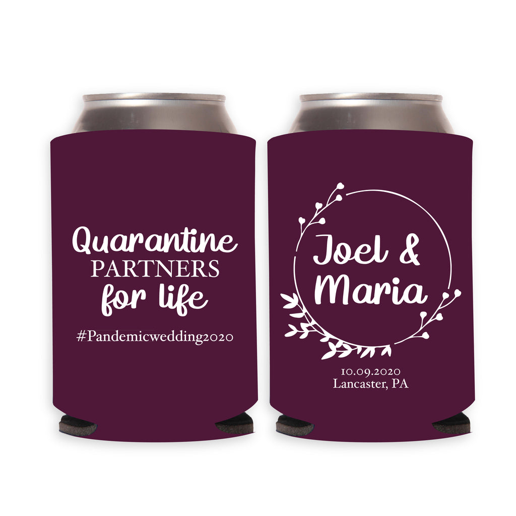 Quarantine Partners for Life Wedding Can Coolers (13)