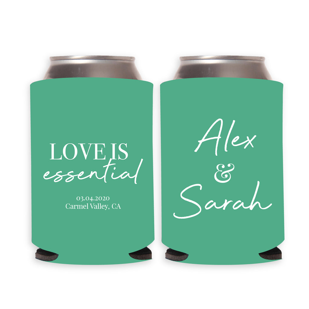 Love Is Essential Wedding Can Coolers (17)