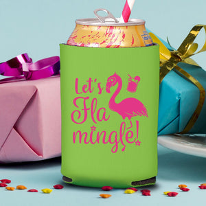 Let's Flamingle! Koozie