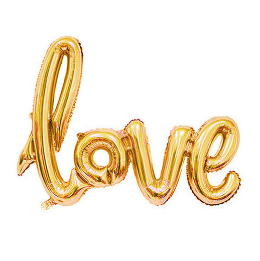 Gold Foil Love Balloon