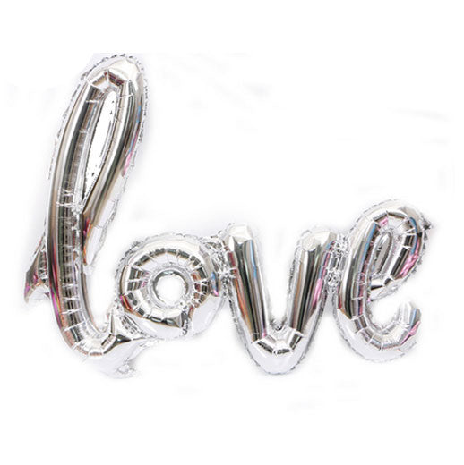 Silver Foil Love Balloon