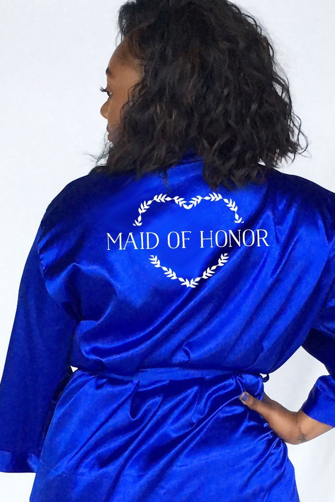Heart Wreath Style - Maid of Honor Robe