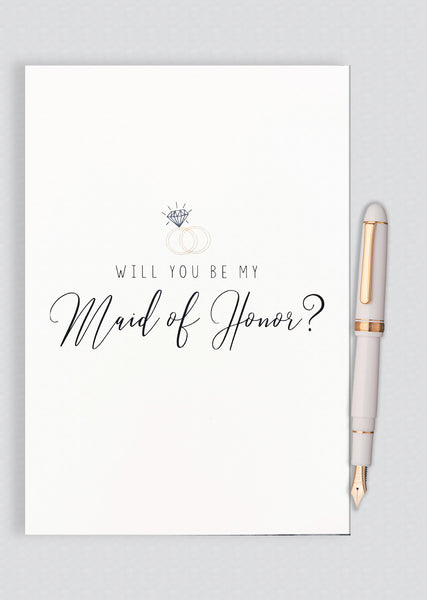 Will You Be My Maid of Honor? Proposal Card - A