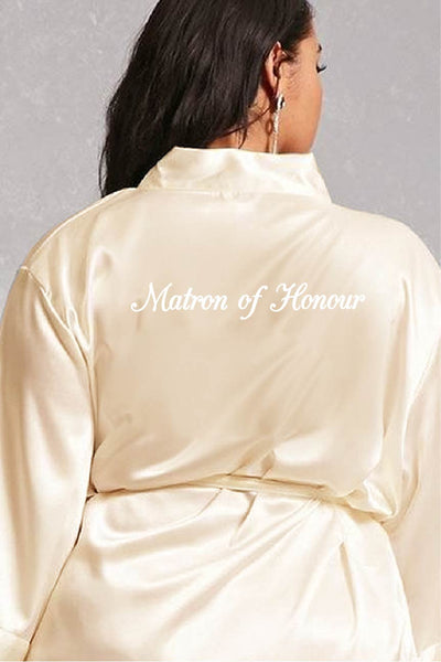Elegant Style - Matron of Honour Robe