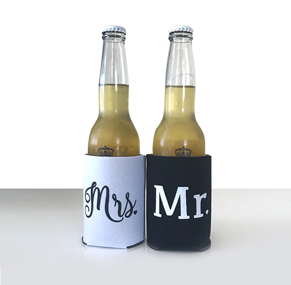 Mr. & Mrs. Koozies in Black and White