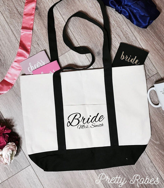 Bride - Mrs. Smith Premium Boat Tote