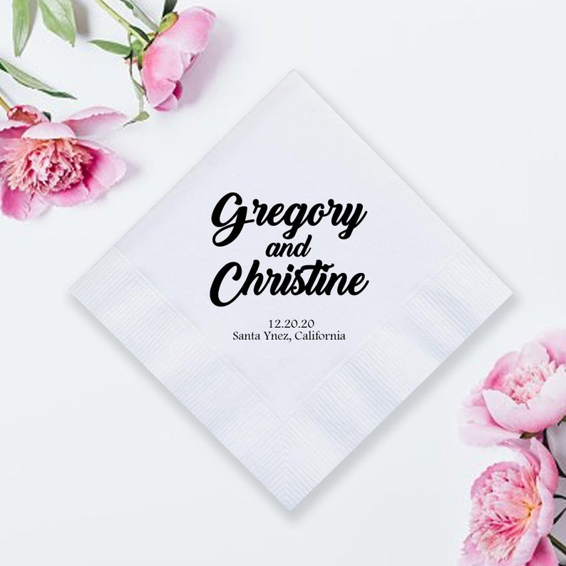 Personalized Wedding Napkins (LPN7)