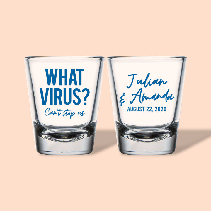Corona Virus Wedding Shot Glasses (268)