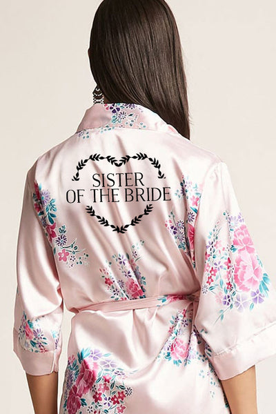 Heart Wreath Style - Sister of the Bride Robe