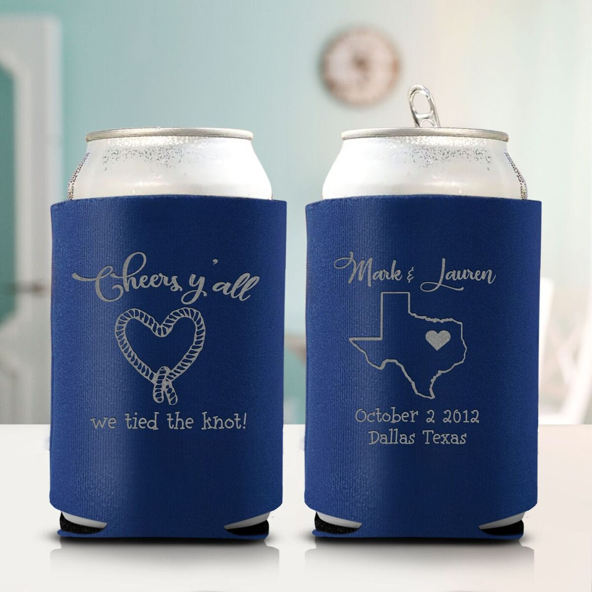 Cheers Y'all We Tied the Knot Koozie