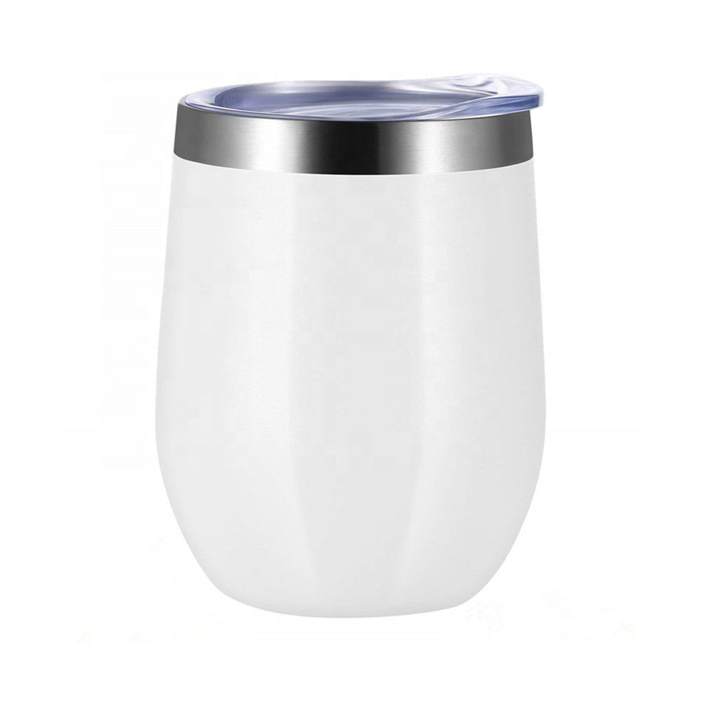 Blank Wine Tumblers in White