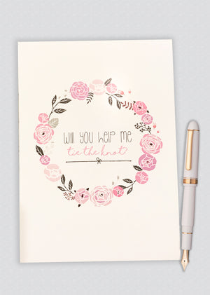 Will You Help Me Tie The Knot? Proposal Card