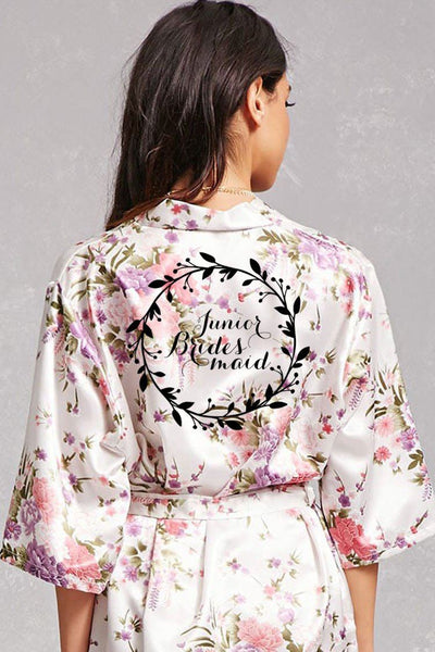 Wreath Style - Junior Bridesmaid Robe