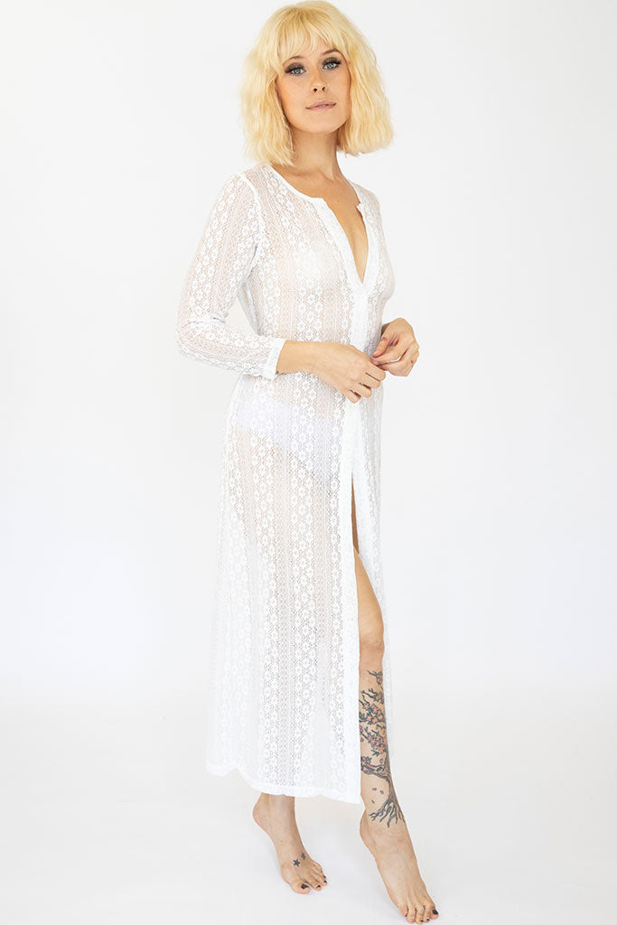 Long Lace Audrey Robe