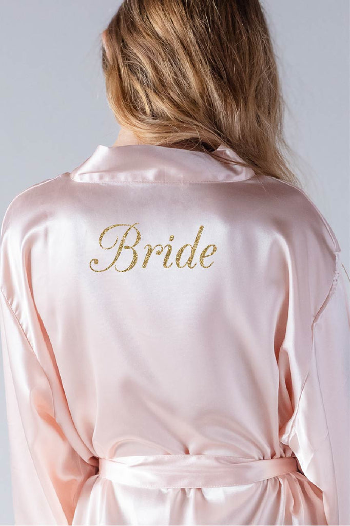 elegant style bridal robe back view