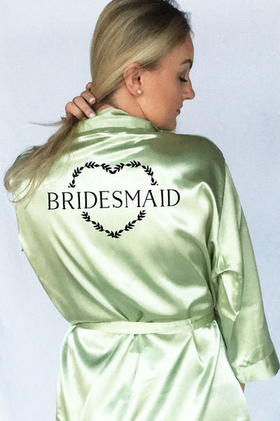 Heart Wreath Style - Bridesmaid Robe