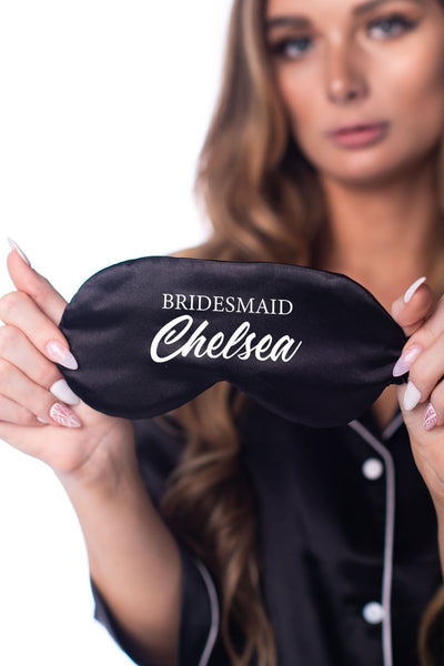 Eye Mask - Bridesmaid (with Custom Text)