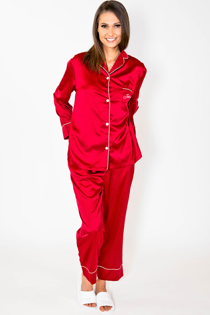 Pajama Pant Set - Burgundy