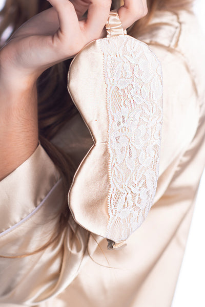 Champagne Eye Mask - Half Lace