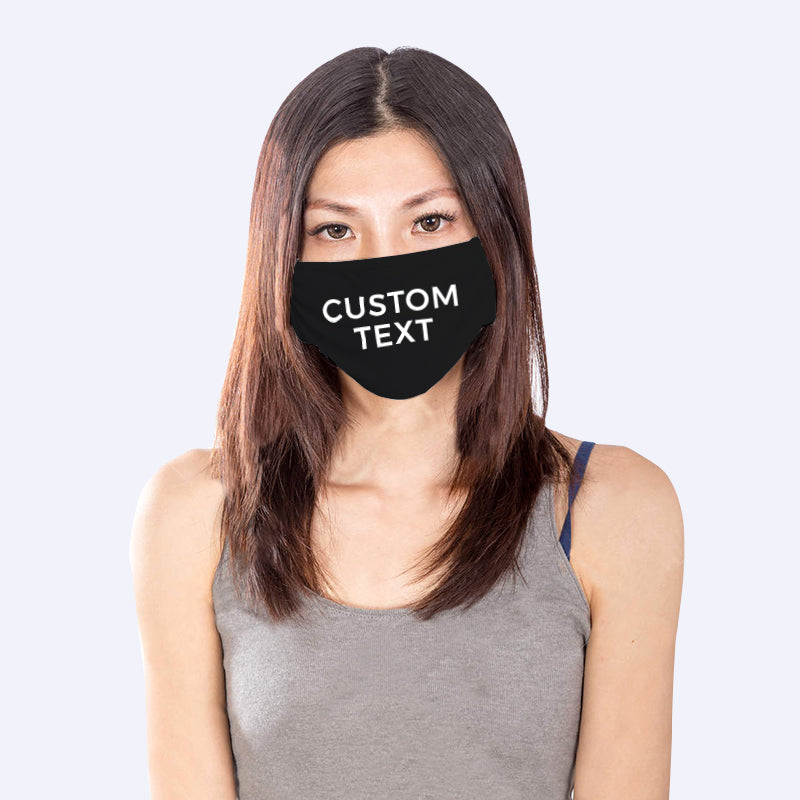 Custom Black Reusable Mask (1pc)