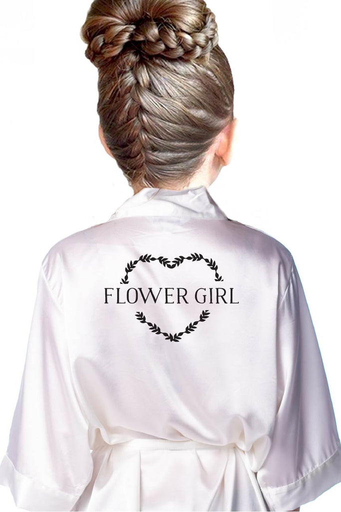 Heart Wreath Style - Kids Flower Girl Robe