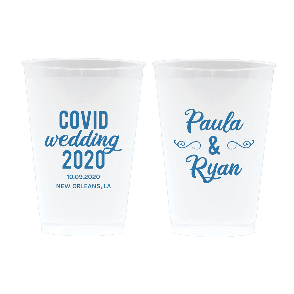 COVID Wedding Frosted Cups (12)