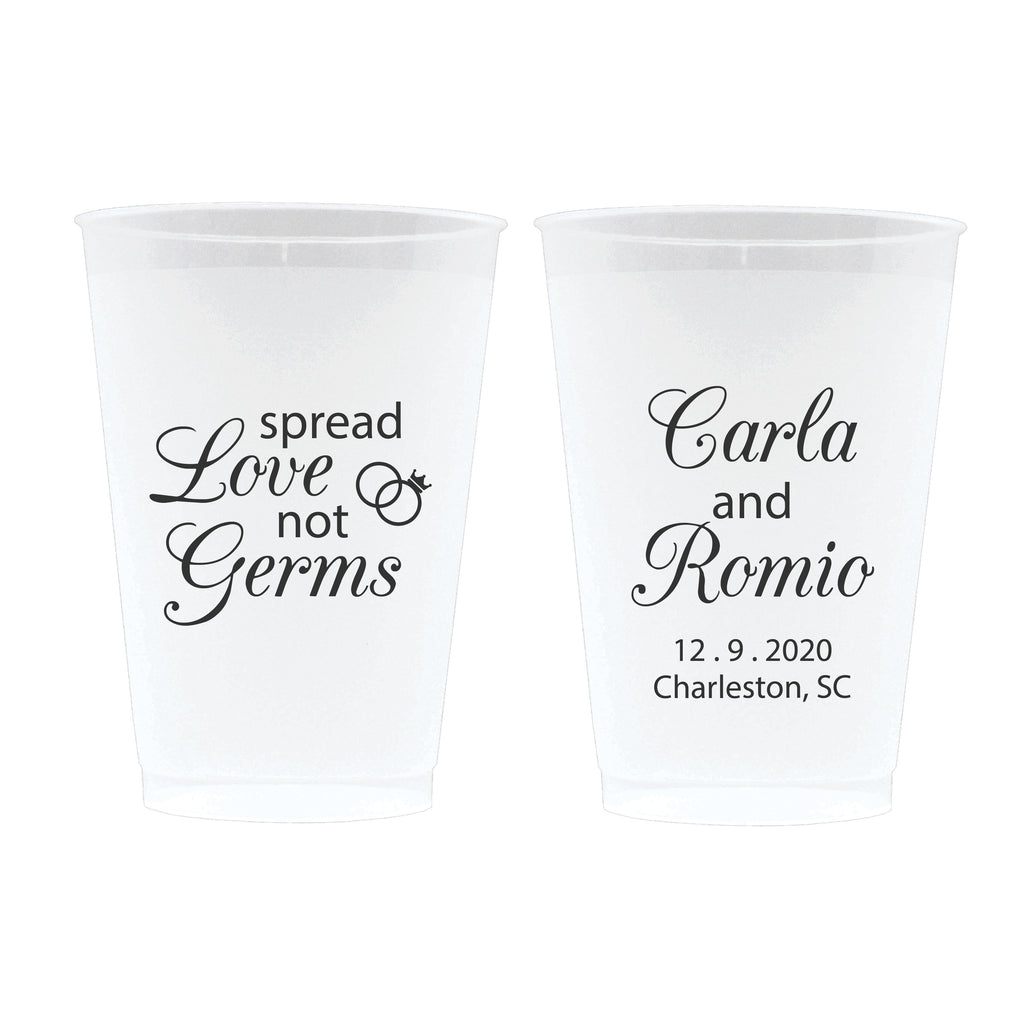 Spread Love Not Germs Wedding Frosted Cups (16)