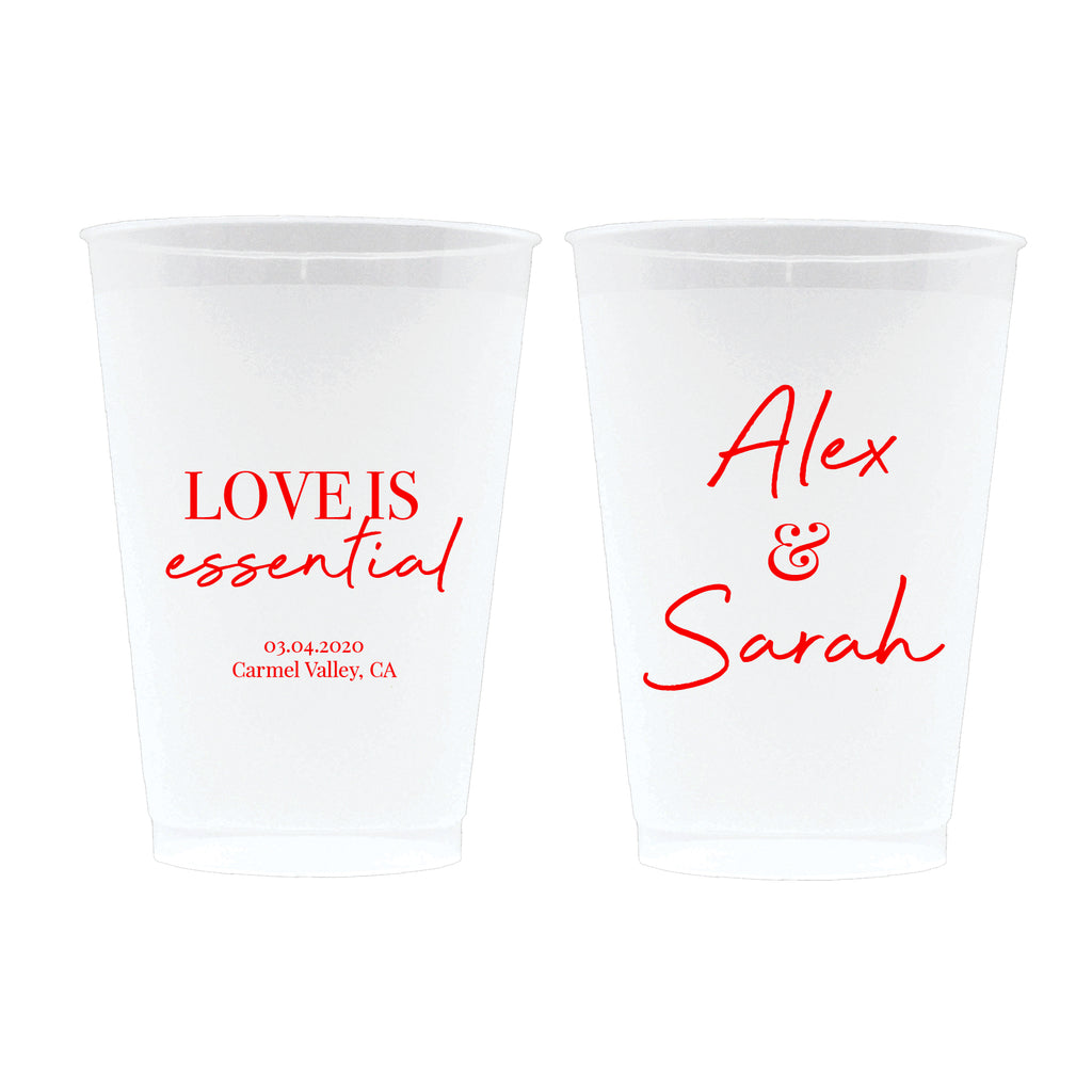 Love Is Essential Wedding Frosted Cups (17)