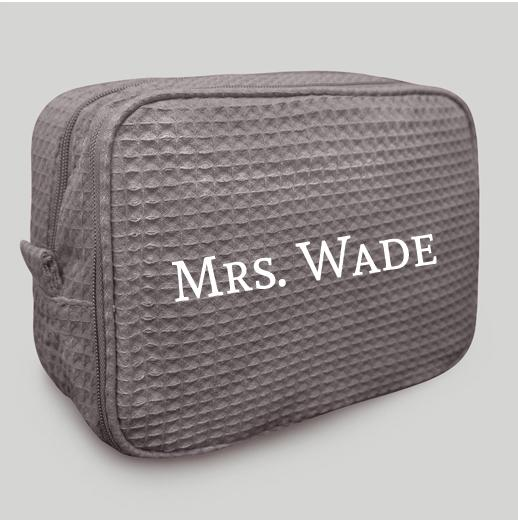 Grey Makeup Bag