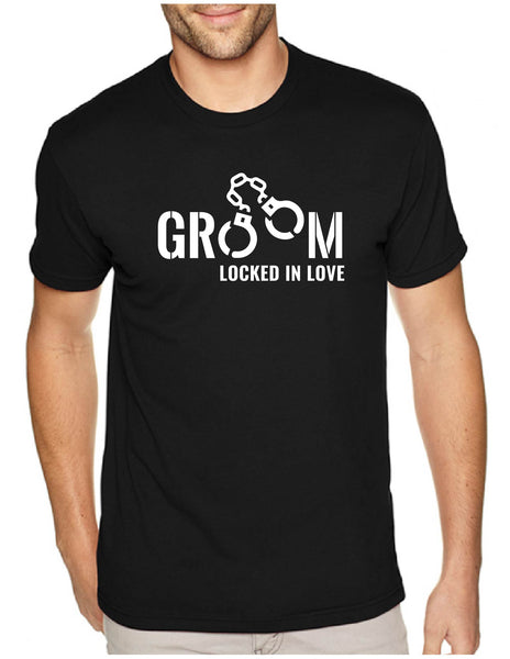 Groom Locked in Love Men's Tee