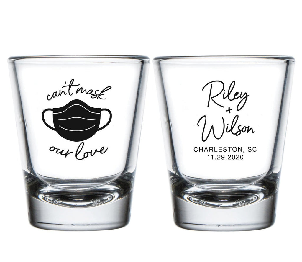Can't Mask Our Love Wedding Shot Glasses (11)